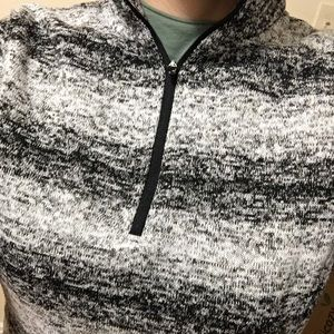 Lands End Zip Pullover Gray, Black, White Size XS